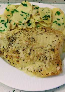 Bacalao con patatas y crema de queso al vapor
