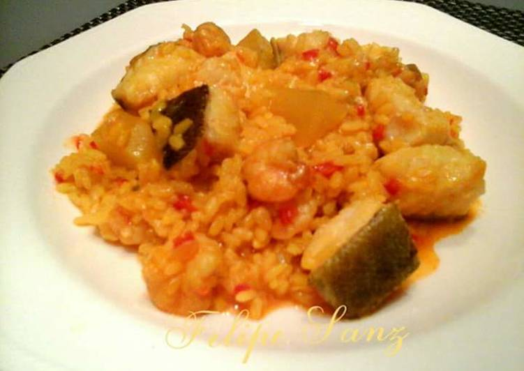Arroz meloso con bacalao receta de felipe sanz cookpad - Arroz blanco con bacalao ...