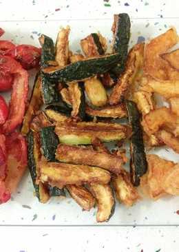 Calabaza, pimientos y calabacines en tempura