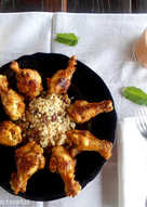 Jamoncitos de pollo en mojo rojo