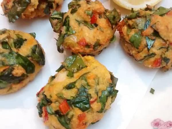 Buñuelos de verdura multicolor