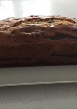 Bizcocho de vainilla y chocolate tipo marmolado