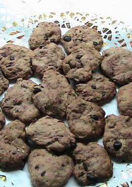 Cookies con chips de chocolate. Apto para personas con diabetes