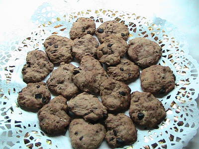 Cookies con chips de chocolate. Apto para personas con diabetes