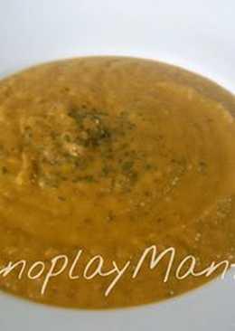 Crema de verduras con calabaza en GME, F y G y tradicional