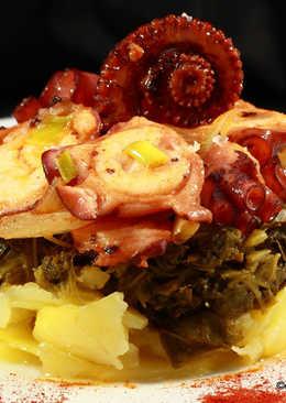 Pulpo, patatas y grelos
