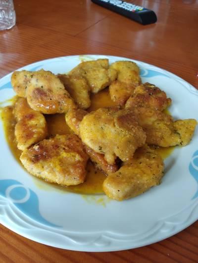 Pechuga de pollo con zumo de naranja