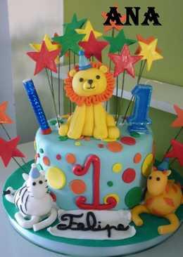 Torta los animalitos cumpleaños de 1 año