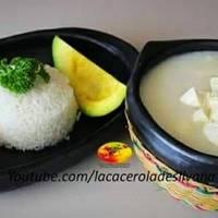 Mote de ñame con queso costeño (Colombia)