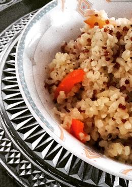 Bulgur y quinoa con pimiento rojo y caballa en aceite extra virgen de oliva