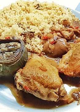 Tajine & Cous Cous de Pollo con Setas y Alcachofas
