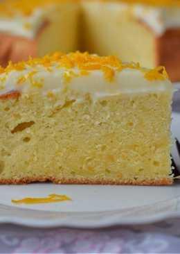 Bizcocho de naranja con crema de queso