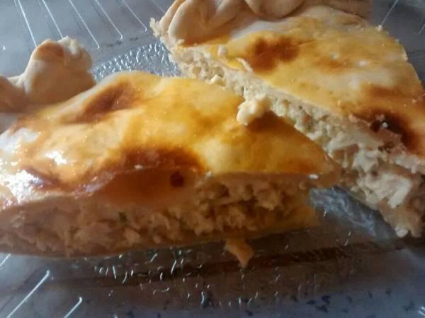 Tarta de pollo zapallito y cebolla 🍗