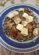 """🇨🇳🇺🇸""""Tofu general Tso chino-estadounidense"""" vegano"""