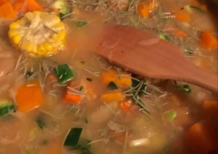 Guiso de carne y arroz con verduras