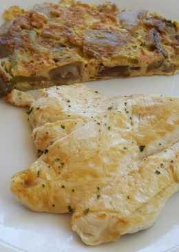 Tortilla francesa con pechuga