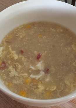Sopa ankake de maíz y panceta