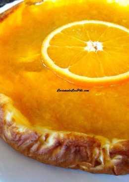 Tarta de queso light con mermelada de naranja sin azúcar