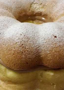 Bizcochuelo de vainilla con crema de chocolate