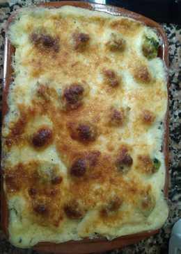 Pastel de coliflor y coles de bruselas