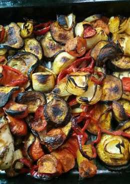Verduras al pimentón horneadas