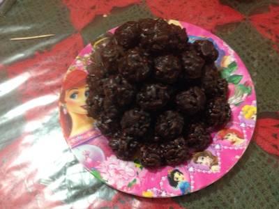 Chocolates con arroz inflado