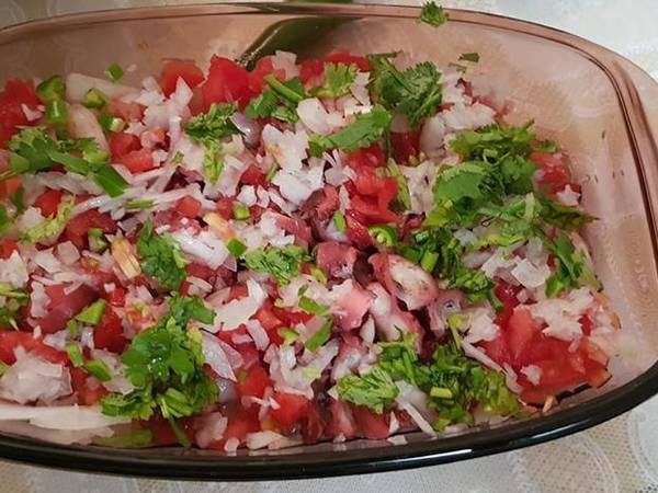 Ensalada de pulpo mexicana