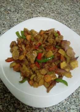 Wok de verduras con quinoa