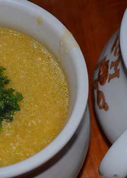 Sopa de zapallo y queso crema
