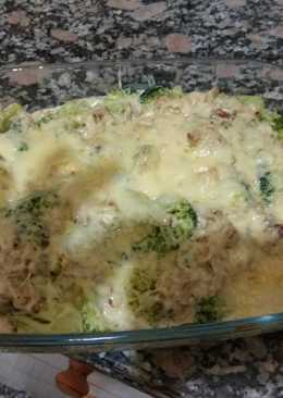 Brócoli a la crema de queso azúl
