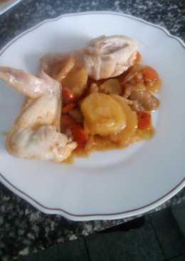 Pollo con sofrito zanahoria
