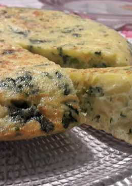 Tortilla española con kale