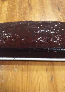 Bizcocho de chocolate con cobertura (Thermomix)