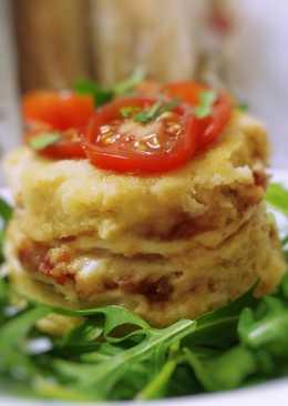 Pastelitos de pan de molde mixtos con tomate caramelizado