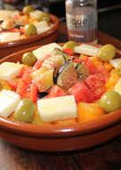 Ensalada de higos y albaricoques con sal rosa