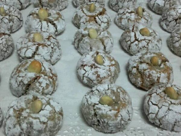 Galletas típicas de Marruecos de almendras y coco