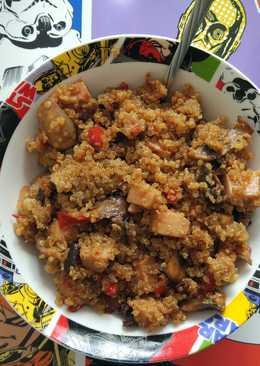 Salteado de quinoa