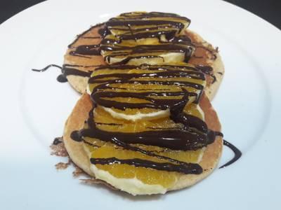 Tortitas de avena con naranja y chocolate negro 🍊🍫🥞