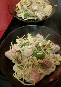 Noodles con verdura y pavo🍲