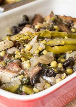 Receta de Pavo al horno con verduras