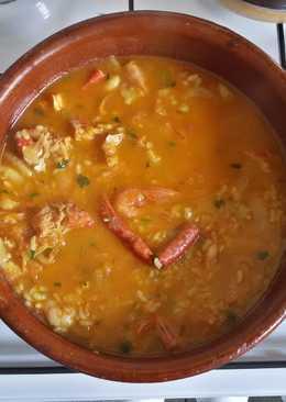 Arroz caldoso de pescado y marisco como le gustaba a mi madre