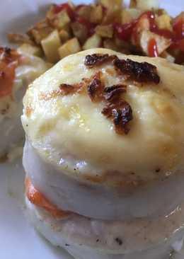Merluza con mayonesa gratinada
