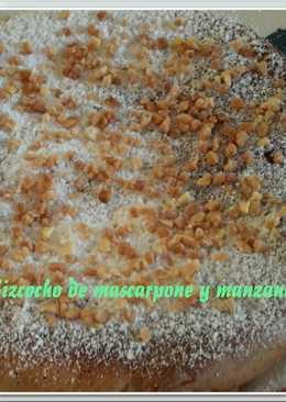 Bizcocho de mascarpone y manzana Thermomix