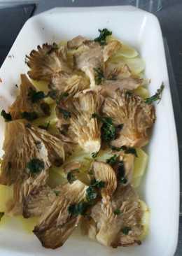 Patatas al horno con setas