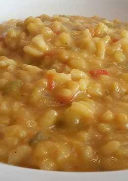 Arroz meloso con calabaza al curry