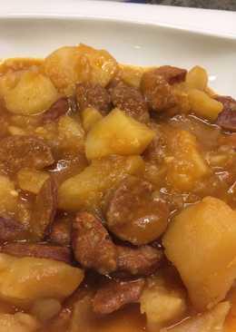 Patatas a la riojana especial para invierno y otoño