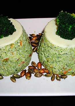 Flanes de brócoli con semillas de calabaza