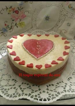 Tarta de tres chocolates para San Valentín