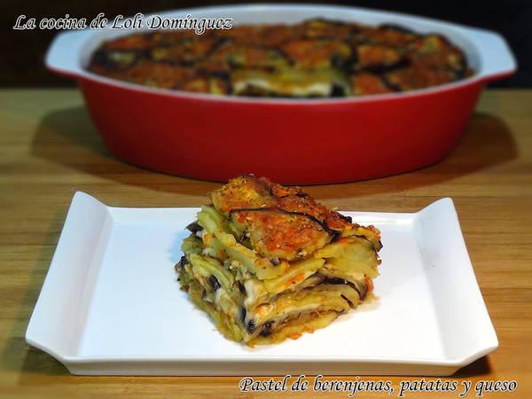Pastel de berenjenas, patatas y queso, súper fácil y riquísimo