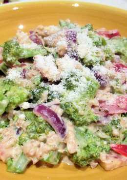 Brócolien salsa de nata